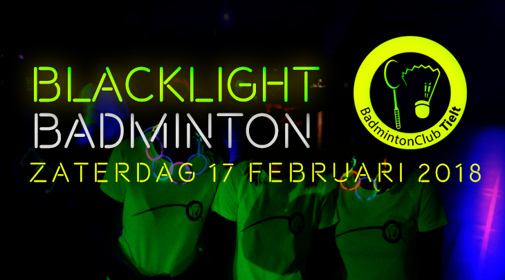 Blacklight badminton 17 februari 2018